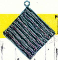Crochet Potholder Patterns, Pattern Books, Vintage Crochet, Yarn Crafts, Vintage Patterns, Pot Holders, Knitting, Hot Pads, Tricot
