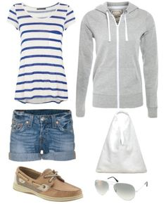 Casual summer outfit... Really great for a day out on a boat or just around the house