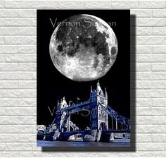 8 X 10 A4 london tower bridge wall art home by vernonsullivan2, £16.00