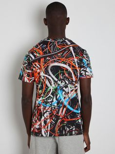 Christopher Kane Men's Multi Cable T-Shirt in multicolour at oki-ni