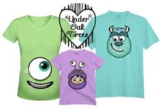 Family monsters inc mike sully and boo t shirt transfer image also for mate Monsters Inc Shirt, Sully Monsters Inc, Mike From Monsters Inc, Monsters Ink, Disney Shirts For Family, Family Shirts, Shirts For Girls, Couple Shirts, Monster Inc Birthday