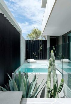 A Passive House in Perth with desert modernist-style influences Backyard Pool Designs, Small Backyard Pools, Swimming Pools Backyard, Jacuzzi, Decoration Facade, Outdoor Spaces, Outdoor Living, Pool Landscape Design, Small Pool Design