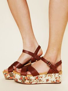 wildflower sandals @freepeople