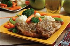 Craig's Apple Pork Chops - Applesauce recipes curated by SavingStar Grocery Coupons. Save money on your groceries at SavingStar.com