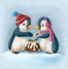 Christmas Mood, Christmas Goodies, Christmas Snowman, Christmas Crafts, Christmas Balls, Xmas, Penguin Drawing, Penguin Art, Penguin Pictures