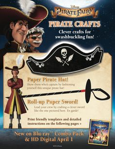 Have some fun with these Pirate Fairy, pirate crafts!