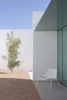 Minimalist modern architecture.