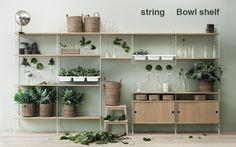 stringシェルフオプション Bowl shelf | greeniche