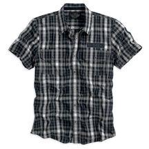 Harley-Davidson Men's Short Sleeve Plaid Shirt