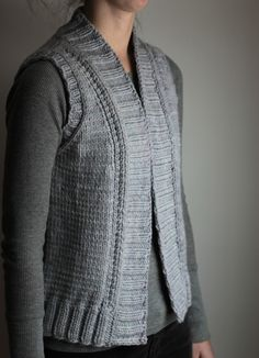 Knitting Pattern Vest Bulky Yarn : Nordic Trail Vest: easy seamless vest knitting pattern ...