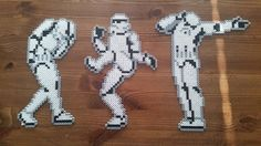 Dancing Stormtroopers - Star Wars perler beads by Perler_by_Lotta