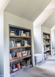 Built In Reclaimed Bookcases