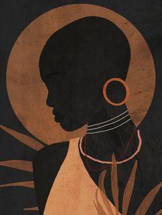 Art And Illustration, Illustrations, Pinturas Art Deco, Arte Inspo, Tableau Pop Art, Afrique Art, African Art Paintings, Black Art Painting, Abstract Line Art