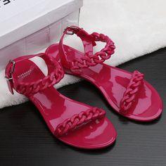 2017 Summer Women Sandalias Mujer Flat Black Sandals Pu Designer Slippers Shoes Woman Casual Rasteirinha Slip-on Sapato Feminino