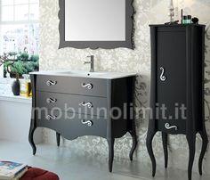Mobile Bagno Nero 3 cassetti con Lavabo - L.105 http://www.mobilinolimit.it/mobili_bagno/1133_mobile_bagno_nero_urban_chic_3_cassetti_con_lavabo_105_cm_SAL19080+16885.asp