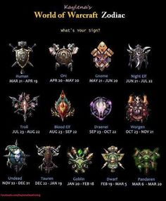 world of warcraft zodiac