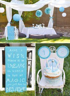 aqua-dandelion-birthday-party-decorations