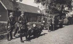 Mariniers bataljon in Souburg, Zeeland, mobilisatie 1939