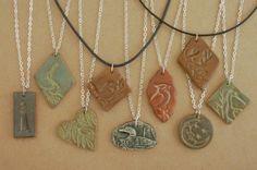 michigan pottery   Sandhill Crane Necklace Kiln-Fired Michigan Clay   silverloonjewelers ...