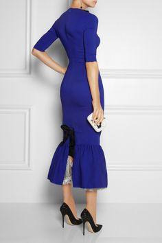 Alessandra Rich|Stretch-cady peplum-hem gown