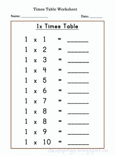 Learning multiplication will be easier with the help of these multiplication worksheets and charts! The worksheets are easy for beginner level with various number multiplications. Use the Times Tables Sheets to help your child master multiplication. 2 Times Table Worksheet, Printable Times Tables, Times Table Chart, Times Tables Worksheets, Multiplication Worksheets, Printable Math Worksheets, Kindergarten Worksheets, Worksheets For Kids, Multiplication Tables