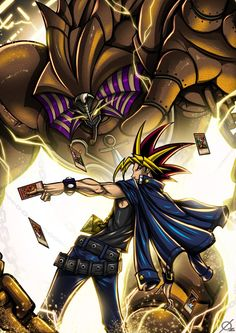 Credit to artist Fanarts Anime, Anime Characters, Atem Yugioh, Fullhd Wallpapers, Mago Anime, Yugioh Monsters, Anime Galaxy, Fantasy Castle, Fantasy Warrior