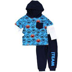 Sesame Street 2 Piece Elmo 2fer Hoodie Top and Pants Set #YankeeToyBox #YTB #Elmo #SesameStreet #Ootd #Outfit