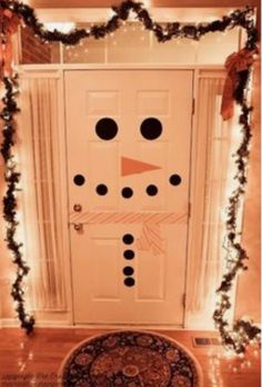 Why not decorate the inside of the door as well as the outside?