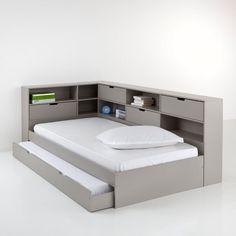 Lit avec tiroir, rangements et sommiers Yann La Redoute Interieurs
