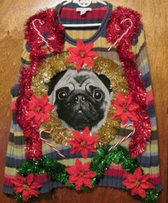 Ugly Christmas Sweater Women's Size L Kim Rogers Vest Dogs in ...