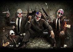 Amazon.com: SALICO маска партии Payday2 Даллас маскарадный костюм смолы маска для лица: одежда