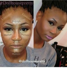 highlighting for a brown-skinned gal