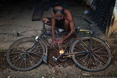 The welding of bicycle