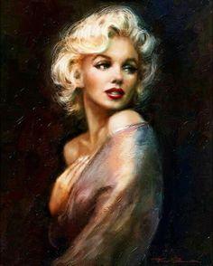 Beautiful painting of Marilyn Monroe