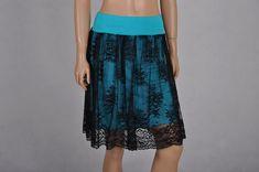 Romantická+krajková+sukně+-+více+barev+Nabíraná+sukně+z+efektní+černé+krajky.+Úzká+tyrkysová+podšívka+a+pas+je+z+elastického+úpletu+-+viscóza/elastan.+Na+přání+lze+vložit+i+do+černého+pasu.+Celková+délka+sukně+je+56+cm.+Na+přání+lze+prodloužit+ještě+o+5+cm,+či+případně+zkrátit.+Velice+pohodlná.+Barvu+podšívky+lze+změnit.+V+nabídce+švestkově+fialová,... Waist Skirt, High Waisted Skirt, Tie Dye Skirt, Skirts, Fashion, High Waist Skirt, Moda, La Mode, Skirt