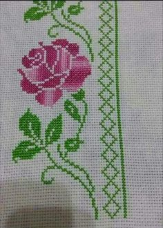 """This post was discovered by Hul """"This post was discovered by Mer"""" Cross Stitch Bookmarks, Cross Stitch Borders, Cross Stitch Rose, Cross Stitch Alphabet, Cross Stitch Flowers, Cross Stitch Charts, Cross Stitch Designs, Cross Stitching, Cross Stitch Embroidery"""
