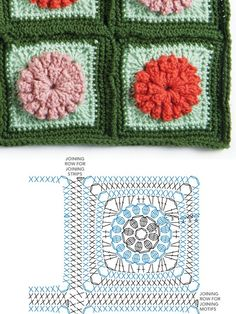 Flower granny square diagram