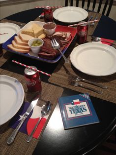 Texas themed family dinner.  Find a tradition in your family and keep it going!  Ours is Texas Independence Day.