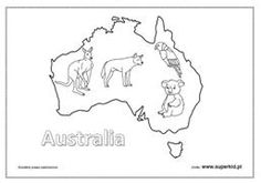 australia kolorowanki do wydruku – Szukaj wGoogle Australia, Diagram, Map, Google, Maps, Peta