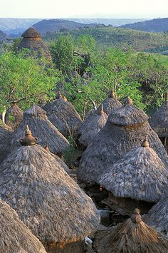Konso Tribal Mountain Village in Hills of Ethiopia