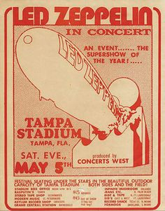 On This Day ~ 5 May 1973  The second date of the 73' US Summer tour took us to Tampa, Florida where we managed to achieve a record of 56,800 people in the stadium, producing great media excitement as we apparently broken the attendance record set by The Beatles at Shea Stadium. However, it was a further illustration of the phenomena the band was generating.
