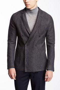 Giorgio Armani Uomo Wool Blend Pinstripe Jacket