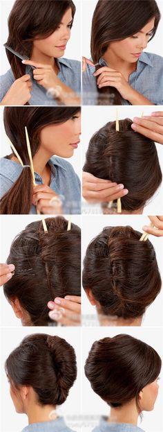 Chopstick hair tie back✔️
