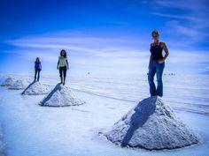 Caroline mit Freundinnen in der Uyuni, Bolivien