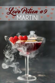 Perfect for Valentine's Day or just a special date night, the Love Potion #9 cocktail will make you fall in love. This triple-berry martini will definitely hit the target.