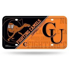 NCAA Campbell Fighting Camels Metal Auto Tag #Rico #CampbellFightingCamels