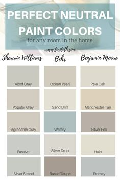 Home Decor Contemporary 48 Ideas living room paint color ideas neutral colour palettes.Home Decor Contemporary 48 Ideas living room paint color ideas neutral colour palettes Paint Colors For Home, House Colors, Rustic Paint Colors, Taupe Paint Colors, Sand Color Paint, Farmhouse Paint Colors, Coastal Paint Colors, Wall Paint Colors, Basement Wall Colors