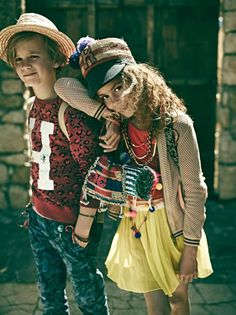 Cool dude boys leopard print sweat and camo pants  and sweet girlswear from Scotch Shrunk and Scotch R'Belle for spring 2014
