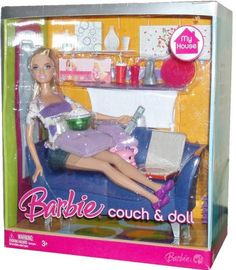 2006-2008 Barbie My House 12 inch Fashion Doll Couch and Doll with Barbie Doll Furniture | eBay