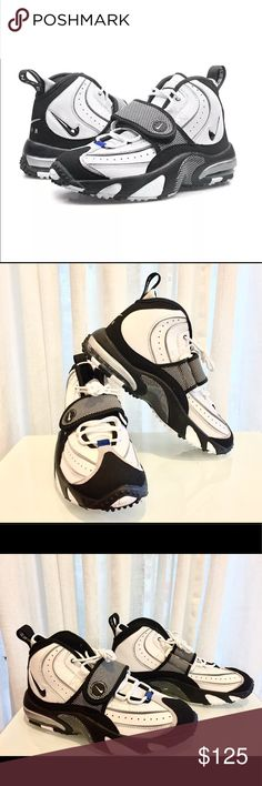 Nike Air Max Pro Streak White Men Turf Training s8 NWB (no box top) Nike Air Max Pro Streak White Black Men's Turf Training 684711 100 Size 8 Nike Shoes Athletic Shoes